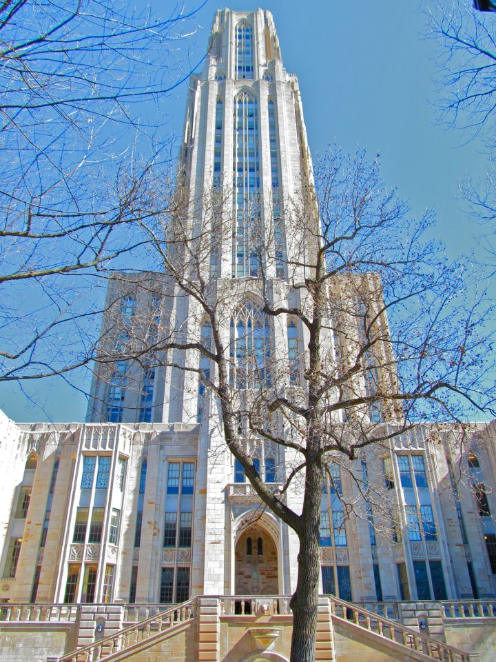 Main entrance to the Cathedral of Learning