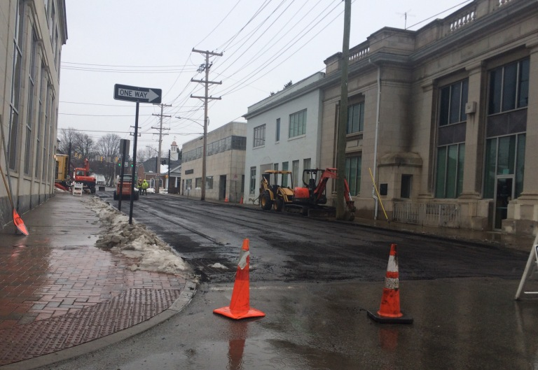 Revitalization underway on Pine Street.