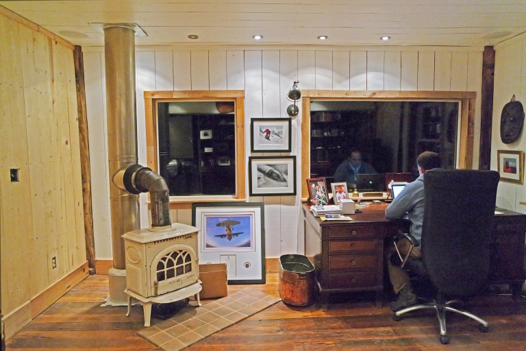 Kobold in his office at Merry Oaks Farm.