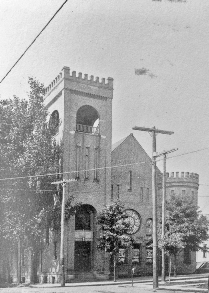 Another image of the Presbyterian Church on Main Street and South Broad Street, now a parking lot.