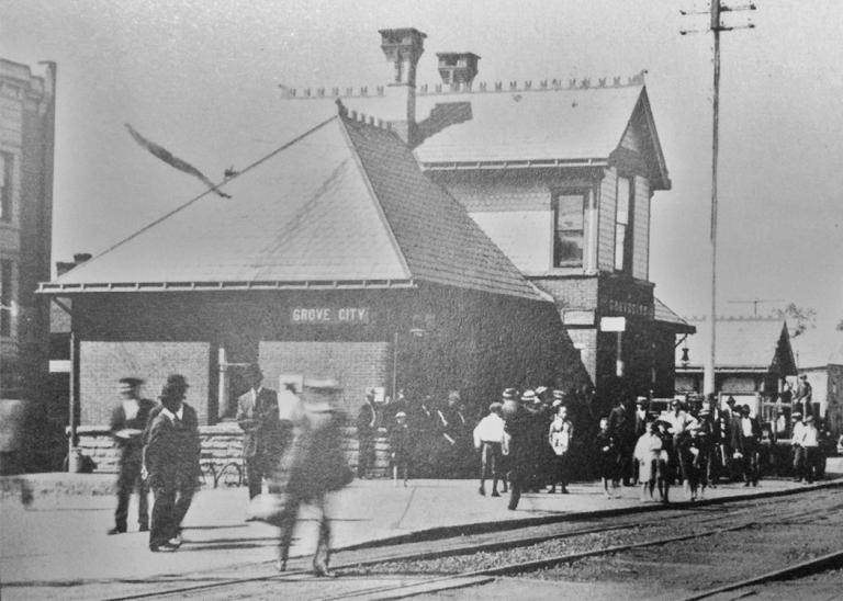 Old Grove City Train Station on Blair Street.